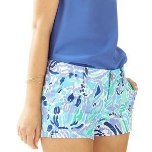 Lilly Pulitzer Walsh Shorts 00 Nice Ink blue purpl